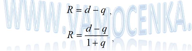 Формула расчета коэффициента капитализации в оценке бизнеса