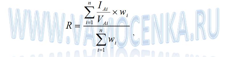 Формула расчета коэффициента капитализации методом рыночной экстракции