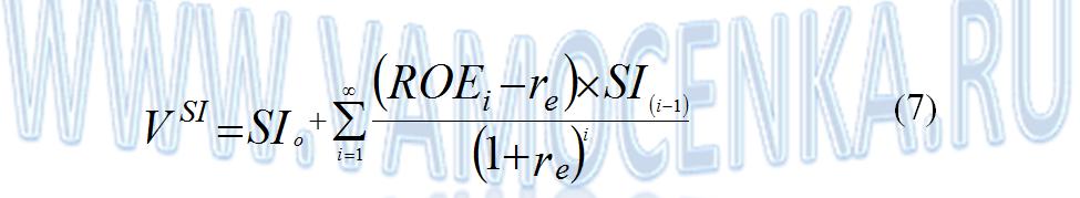 Формула модели ЕВО