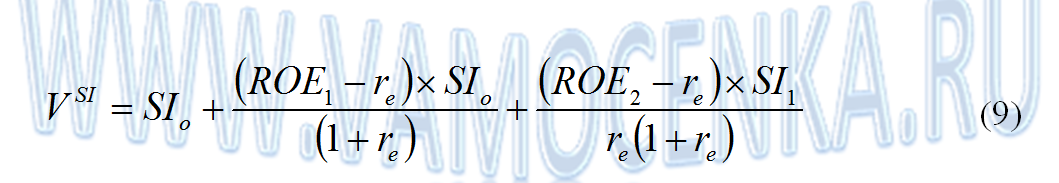 Формула модели ЕВО на два года