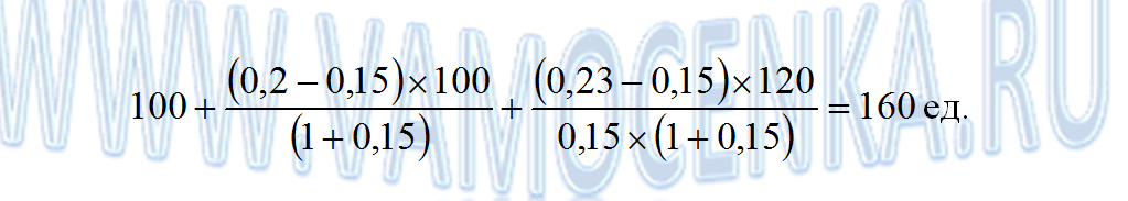 Пример решения задачи по модели Ольсона